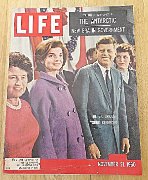 Life Magazine November 21 1960 Victorious Young Kennedy