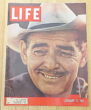 Life Magazine January 13, 1961 Gable's Last Film