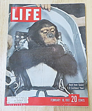 Life Magazine February 10, 1961 Confident Ham