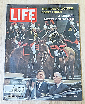 Life Magazine June 9, 1961 Kennedy In Paris