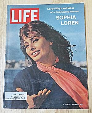 Life Magazine August 11, 1961 Sophia Loren (Image1)