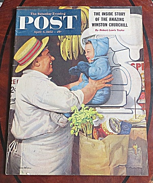 Saturday Evening Post April 5, 1952 Winston Churchill (Image1)