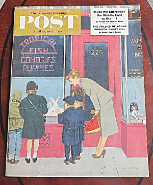 Saturday Evening Post April 12, 1952 Winston Churchill (Image1)