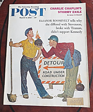 Saturday Evening Post March 8, 1958 Charlie Chaplin