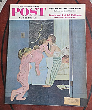 Saturday Evening Post March 22, 1958 60 Fathoms