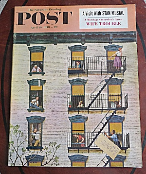 Saturday Evening Post April 19, 1958 Stan Musial (Image1)