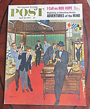 Saturday Evening Post April 26, 1958 I Call On Bob Hope
