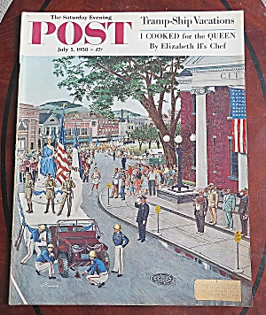 Saturday Evening Post July 5, 1958 Elizabeth Ii's Chef