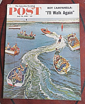 Saturday Evening Post July 26, 1958 Roy Campanella