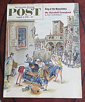 Saturday Evening Post August 2, 1958 Roy Campanella