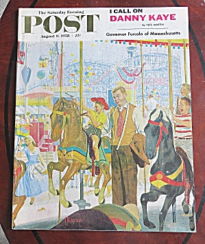 Saturday Evening Post August 9, 1958 Danny Kaye (Image1)