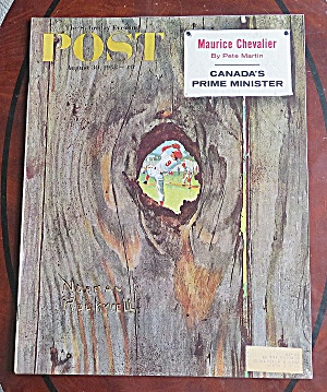 Saturday Evening Post August 30, 1958 Maurice Chevalier