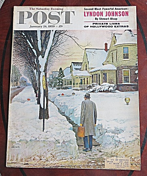 Saturday Evening Post Jan 24, 1959 Lyndon Johnson