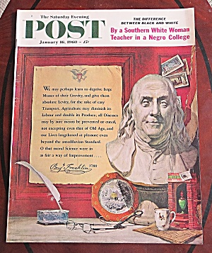 Saturday Evening Post Jan 16, 1960 Black & White