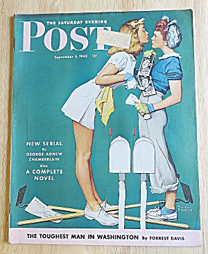 Saturday Evening Post Sept 5, 1942 Toughest Man