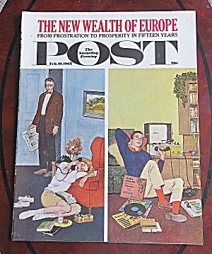 Saturday Evening Post Feb 10, 1962 Wealth Of Europe