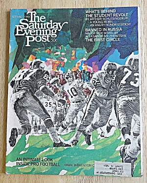 Saturday Evening Post September 21, 1968 Pro Football