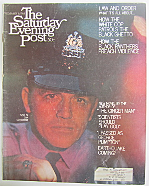 Saturday Evening Post November 16, 1968 Ghetto Cop
