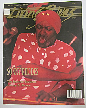 Living Blues Magazine March/april 1992 Sonny Rhodes