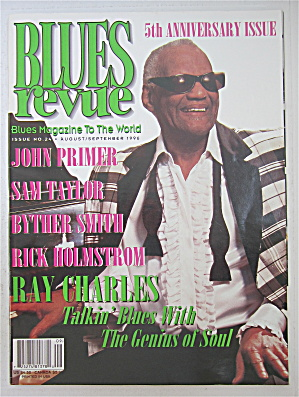 Blues Revue Magazine August/september 1996 Ray Charles