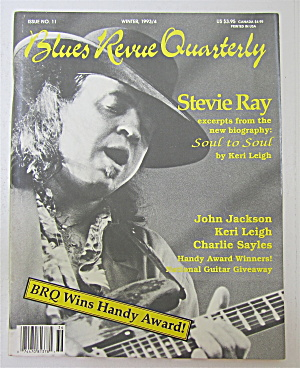 Blues Revue Quarterly Magazine Winter 1993/94 Steve Ray