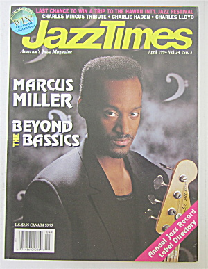 Jazz Times Magazine April 1994 Marcus Miller