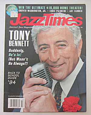 Jazz Times Magazine October 1994 Tony Bennett