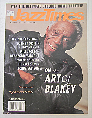 Jazz Times Magazine November 1994 Art Of Blakey