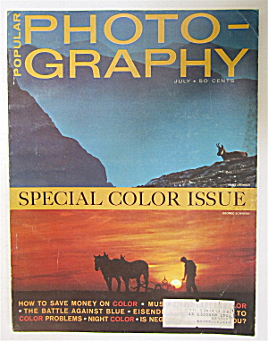Popular Photography Magazine July 1964 Special Color