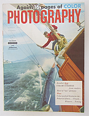 Photography Magazine August 1953 Color Stereos