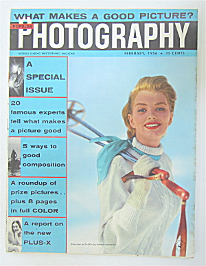 Popular Photography Magazine February 1956 Good Picture