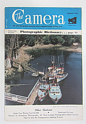The Camera Magazine August 1947 Photographic Dictionary