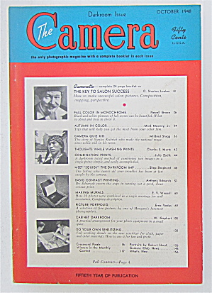 The Camera Magazine October 1948 Darkroom Issue