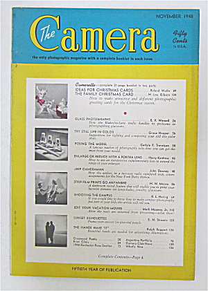 The Camera Magazine November 1948 Christmas Cards