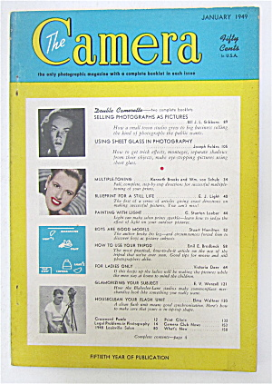 The Camera Magazine January 1949 Selling Photographs