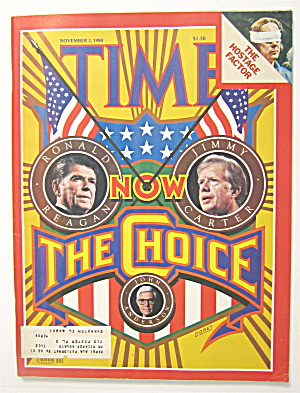 Time Magazine November 3, 1980 Now The Choice