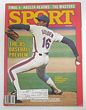 Sport Magazine April 1985 Dwight Gooden