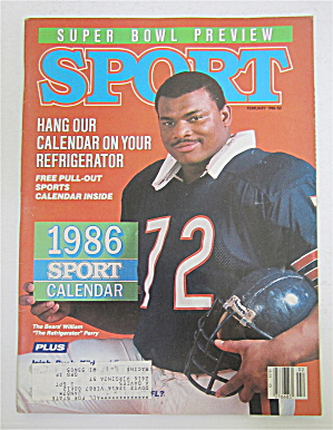Sport Magazine February 1986 Refrigerator Perry