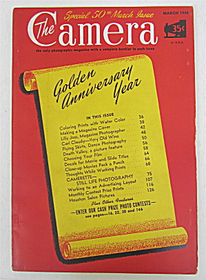 The Camera Magazine March 1948 50th March Issue