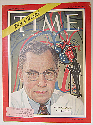 Time Magazine January 13, 1961 Ancel Keys