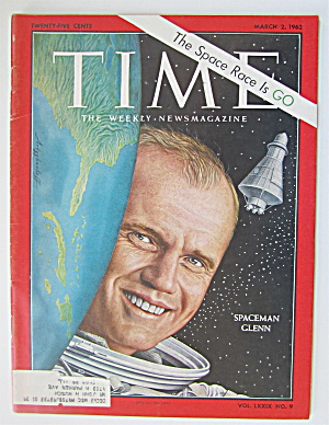 Time Magazine March 2, 1962 Spaceman Glenn