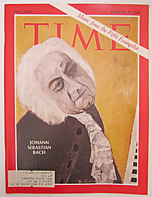 Time Magazine December 27, 1968 Johann Sebastian Bach