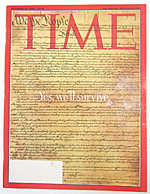 Time Magazine December 18, 2000 Yes, We'll Survive