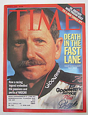 Time Magazine March 5, 2001 Dale Earnhardt