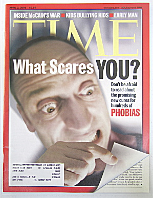 Time Magazine April 2, 2001 What Scares You?