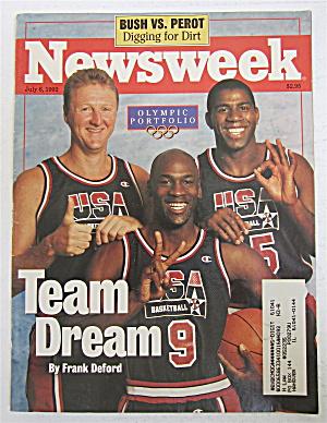 Newsweek Magazine July 6, 1992 Team Dream  (Image1)