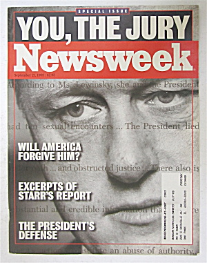 Newsweek Magazine September 21, 1998 You, The Jury