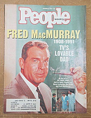 People Magazine November 18, 1991 Fred Macmurray