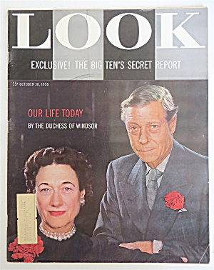Look Magazine October 30, 1956 Duchess Of Windsor