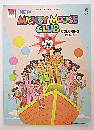 Mickey Mouse Club Coloring Book 1978 Walt Disney